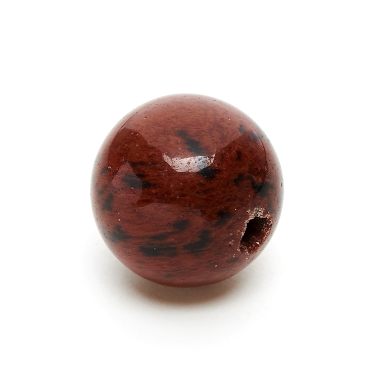 Бусина обсидиан коричневый Армения шарик 8-8,5 мм (1 шт)