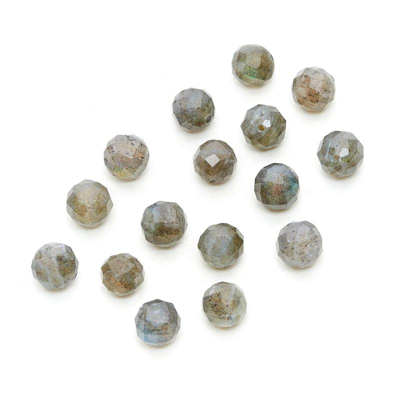 Бусина лабрадор шарик 8-8,5 мм огранка (1 шт)