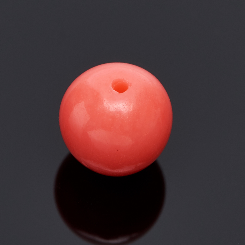 Бусина коралл розовый Индонезия шарик 6,5 мм (1 шт)