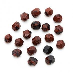 Бусина обсидиан коричневый Армения 8*10 мм огранка (1 шт)
