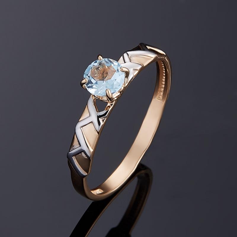Кольцо топаз голубой огранка (золото 585 пр.) размер 16 цена