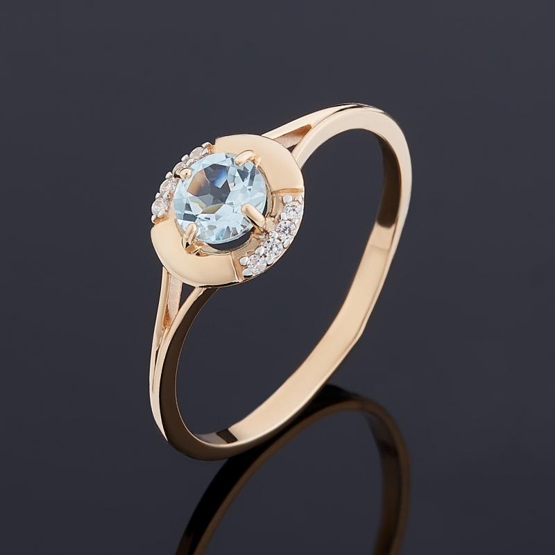 Кольцо топаз голубой огранка (золото 585 пр.) размер 16,5