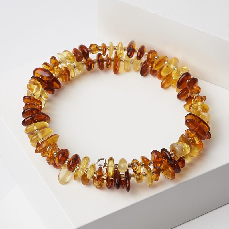 Браслет янтарь пружина регулируемый (биж. сплав) браслет янтарное лето искусственный янтарь россия