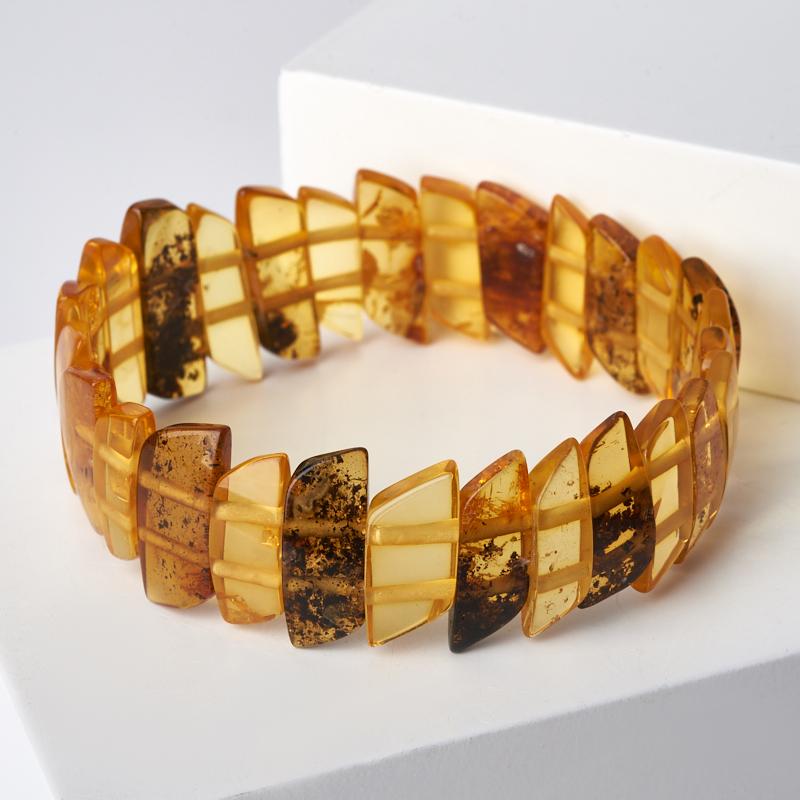 Браслет янтарь 17 см браслет янтарное лето искусственный янтарь россия