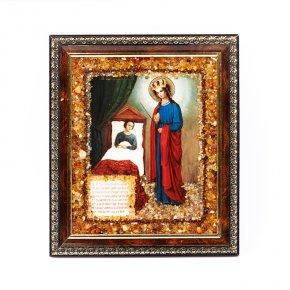 Изображение Богоматерь Целительница янтарь Россия 16х14 см