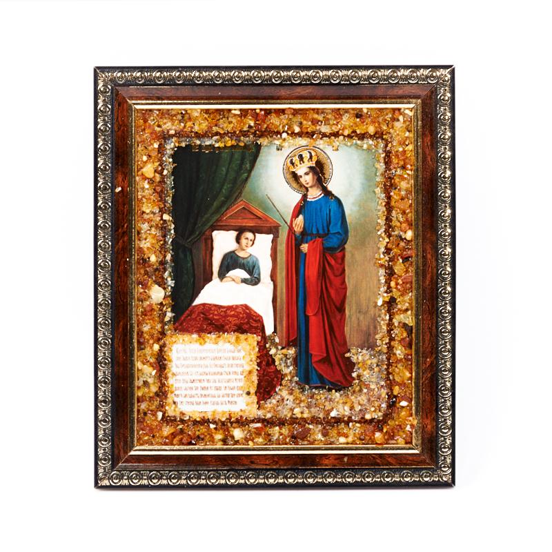 Изображение Богоматерь Целительница янтарь 16х14 см
