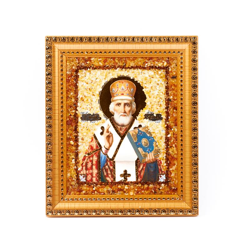 Изображение Николай Чудотворец янтарь 14х16,5 см