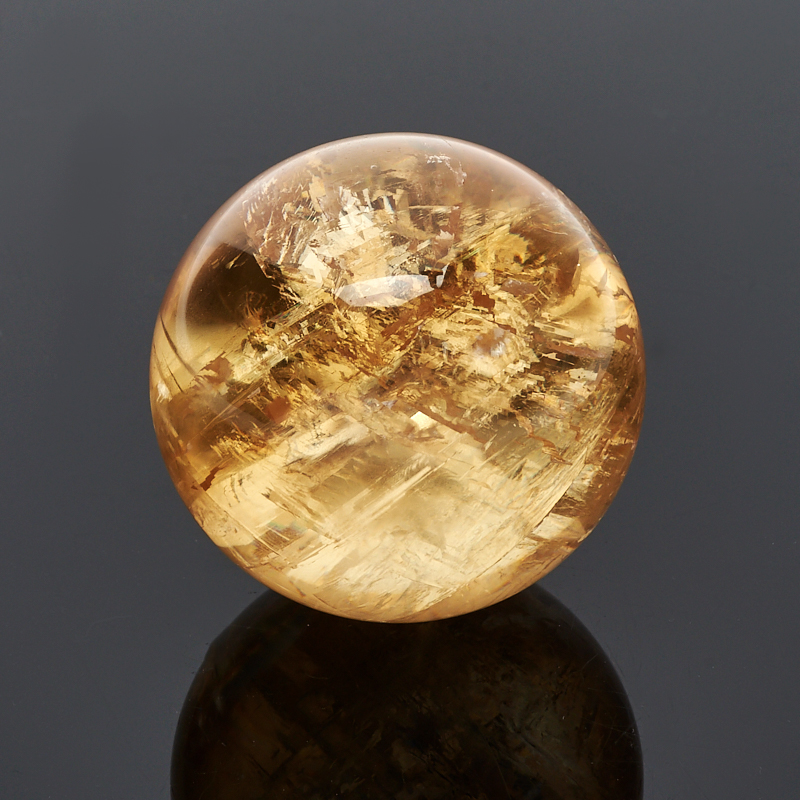 Шар кальцит желтый 4 см