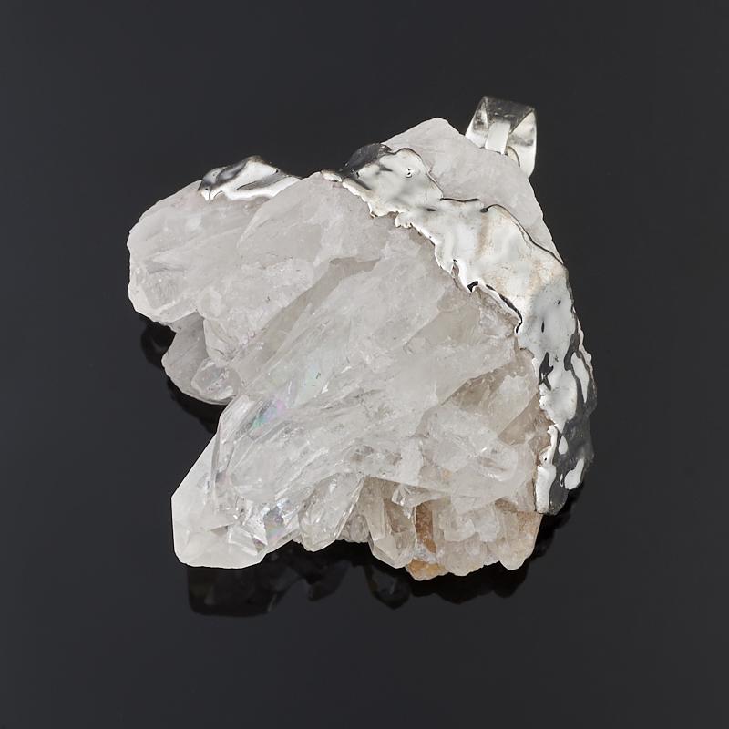 Кулон горный хрусталь Бразилия друза (биж. сплав) 3,5 см