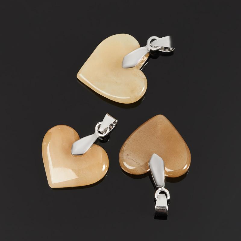 Кулон нефрит сердечко (биж. сплав) 3,5 см браслет классика 8 нефрит револю