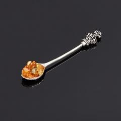 Денежный талисман янтарь Россия (биж. сплав) (ложка-загребушка) 5 см