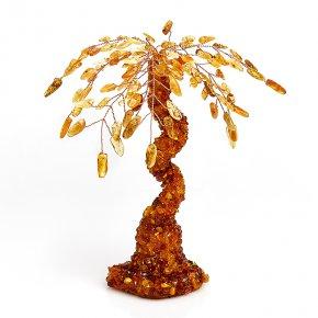 Дерево счастья янтарь Россия 18 см