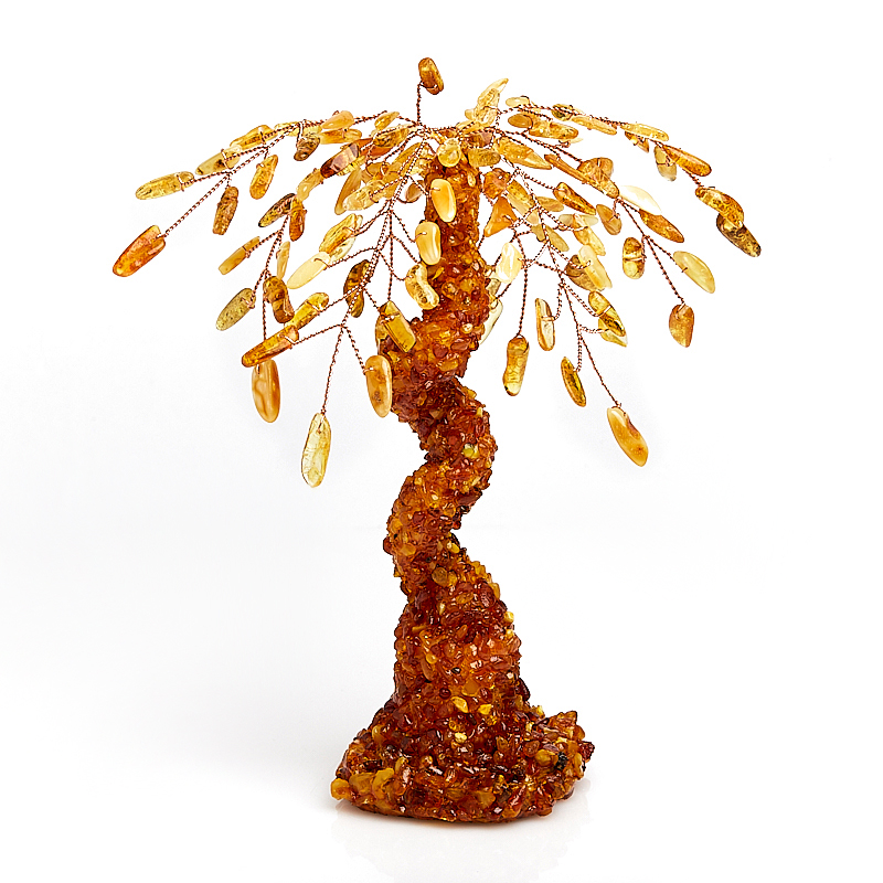 Дерево счастья янтарь пресс Россия 18 см