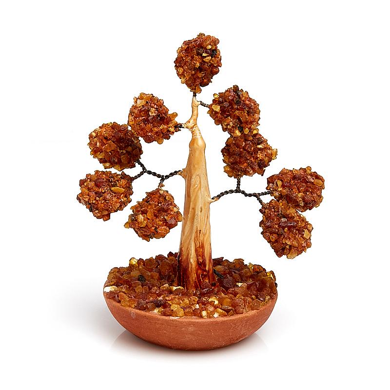 Дерево счастья янтарь 13 см