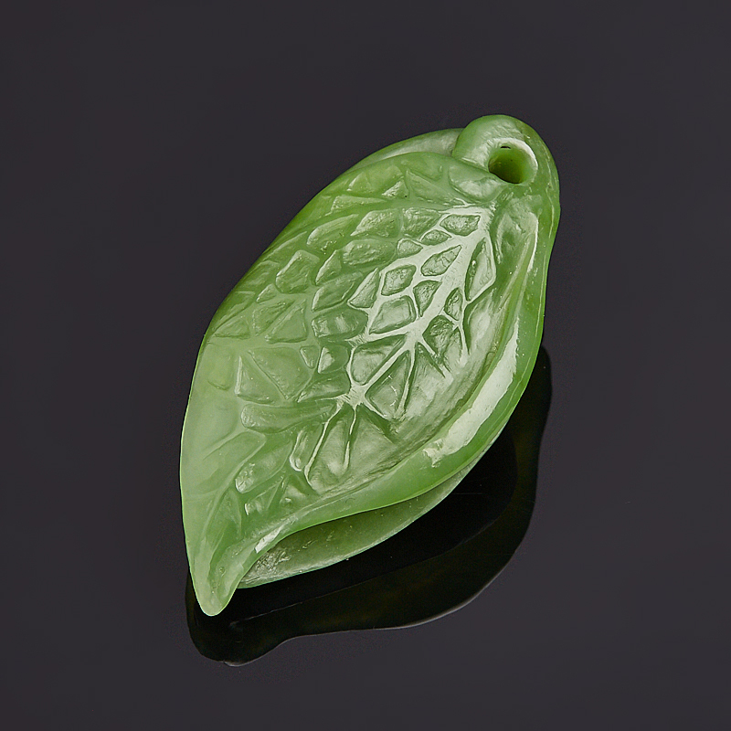 Кулон нефрит зеленый 5 см кулон нефрит зеленый биж сплав 6 5 см