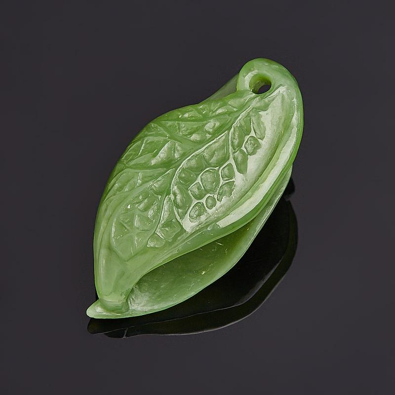 Кулон нефрит зеленый Россия 5 см