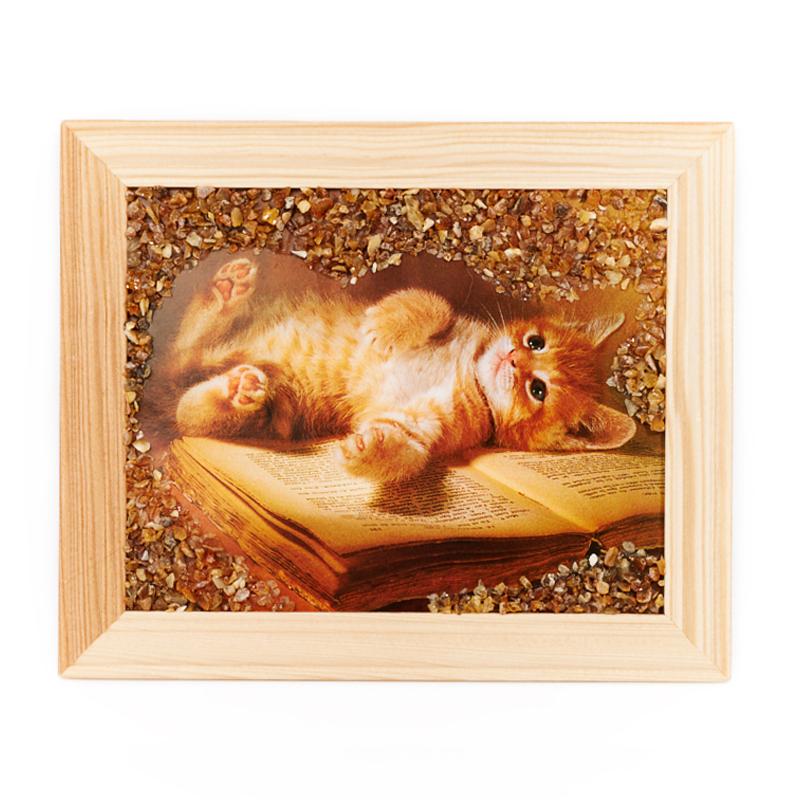 Картина Животные янтарь 12х15 см