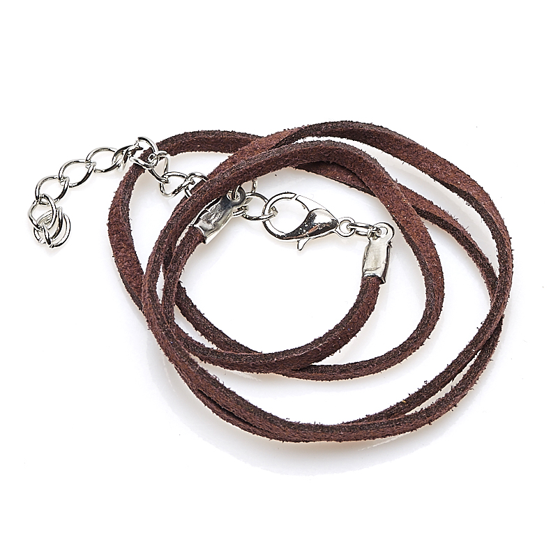 Шнурок (коричневый) 45 см (+4 см) (кожа иск.) шнурок коричневый 46 см 4 см иск кожа