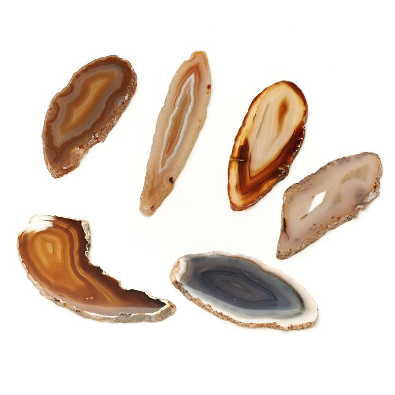 Срез агат серый Ботсвана S (4-7 см) (1 шт)
