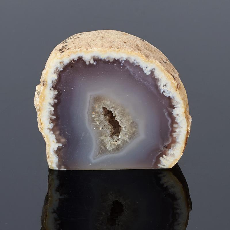 Жеода агат серый (3-4 см) 1 шт агат голубой 3 4 см 1 шт