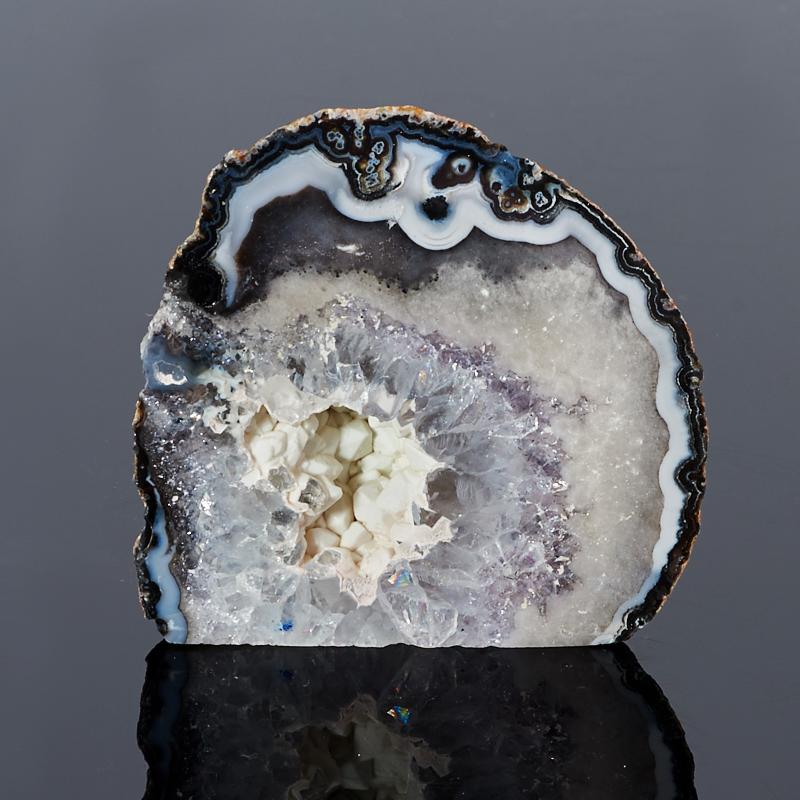 Жеода агат серый (5-6 см) 1 шт уникальный шар жеода агат серый 7 см