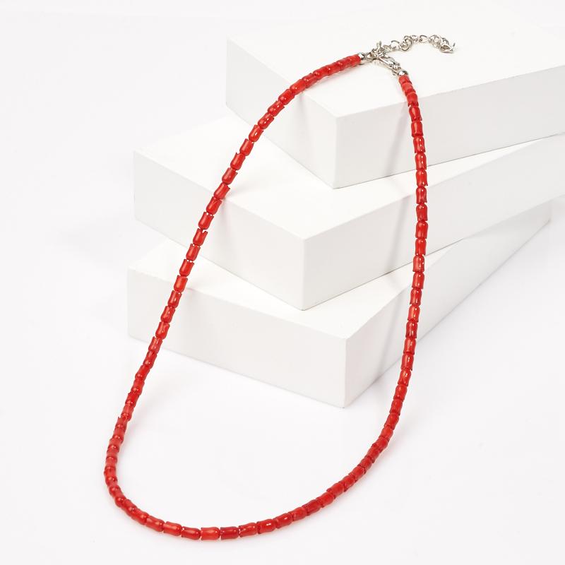 Бусы коралл красный 46-51 см (биж. сплав) бусы коралл красный огранка 6 мм 46 53 см биж сплав