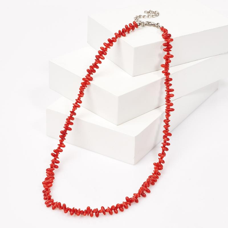 Бусы коралл красный 45 см (+7 см) (биж. сплав) бусы коралл красный 45 см 7 см биж сплав