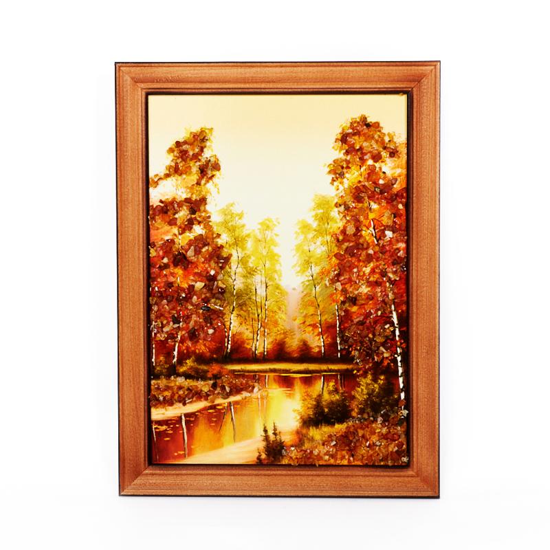 Картина Природа янтарь 15х21 см