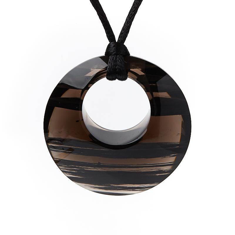 Кулон обсидиан черный 4 см
