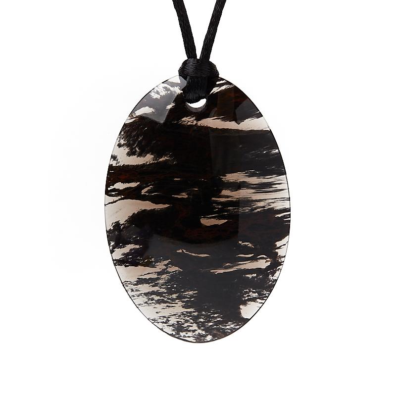 Кулон обсидиан прозрачный овал 6 см