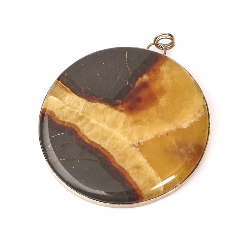 Кулон симбирцит круг (нейзильбер) 7 см