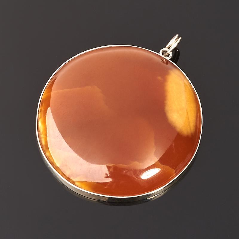 Кулон симбирцит круг (нейзильбер) 5,5 см