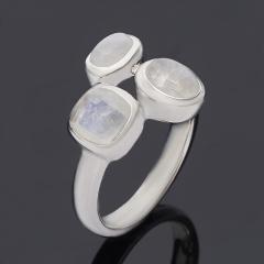 Кольцо лунный камень Индия (серебро 925 пр.) размер 17