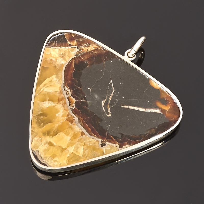Кулон симбирцит Россия (нейзильбер) 5,5 см