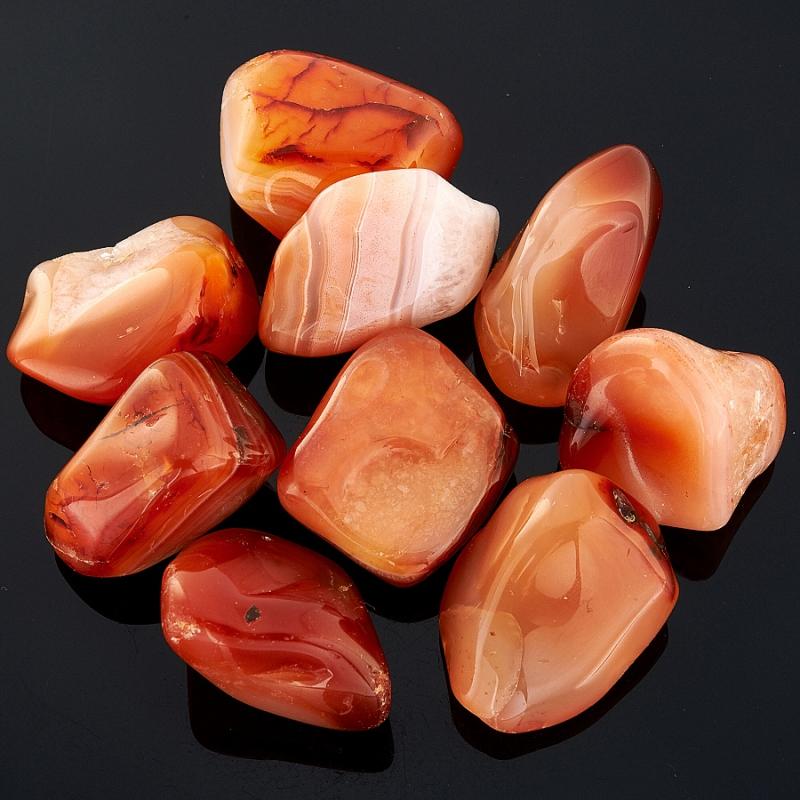 Галтовка агат красный Бразилия (2,5-3 см) (1 шт)