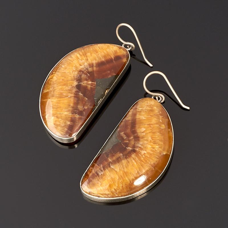Серьги симбирцит (нейзильбер)