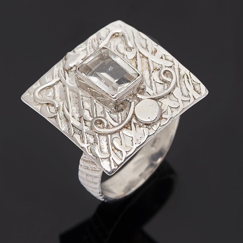 Кольцо горный хрусталь огранка (серебро 925 пр.) размер 17