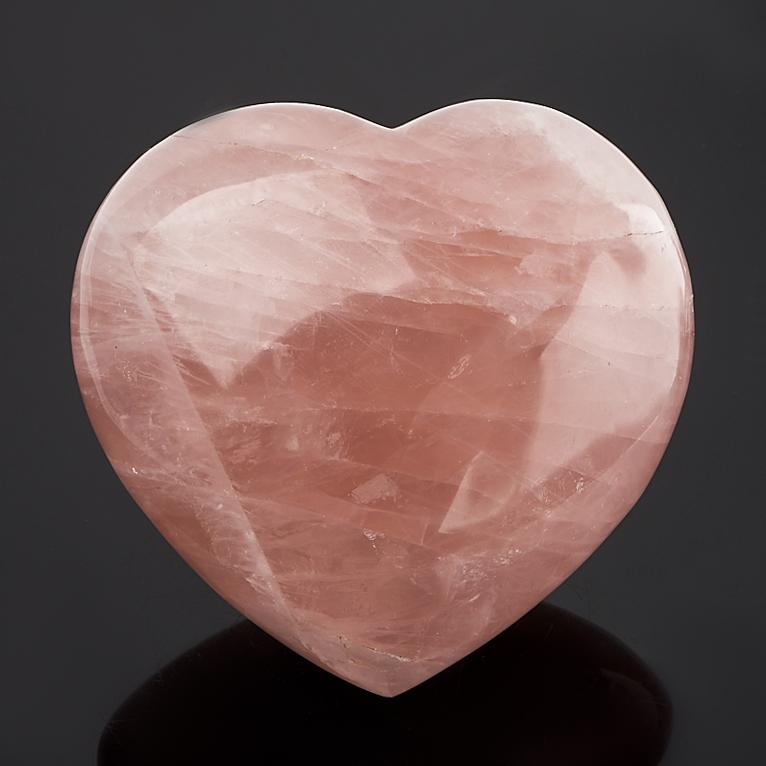 Сердечко розовый кварц 8 см