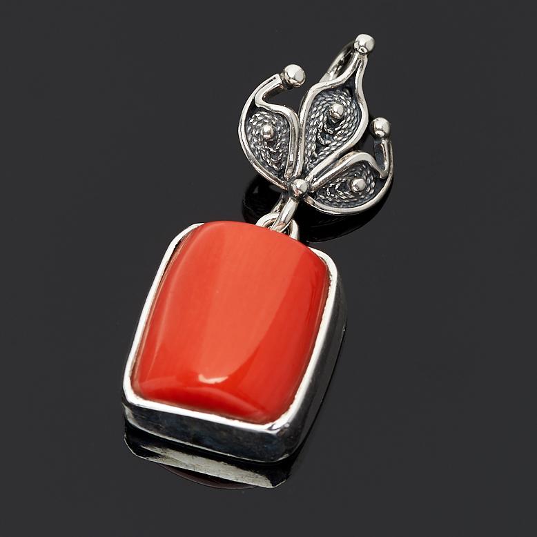 Кулон коралл оранжевый (серебро 925 пр.) кулон дженифер прес коралл коралл хрусталь