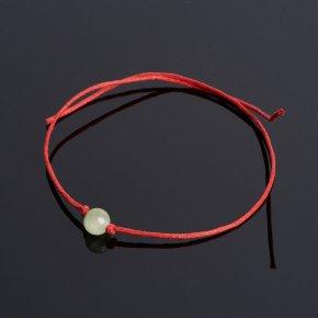 Браслет оникс мраморный Пакистан красная нить Для успехов в учебе 6 мм регулируемый