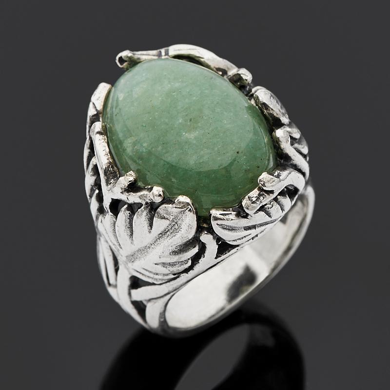 Кольцо авантюрин зеленый (серебро 925 пр.) размер 16,5