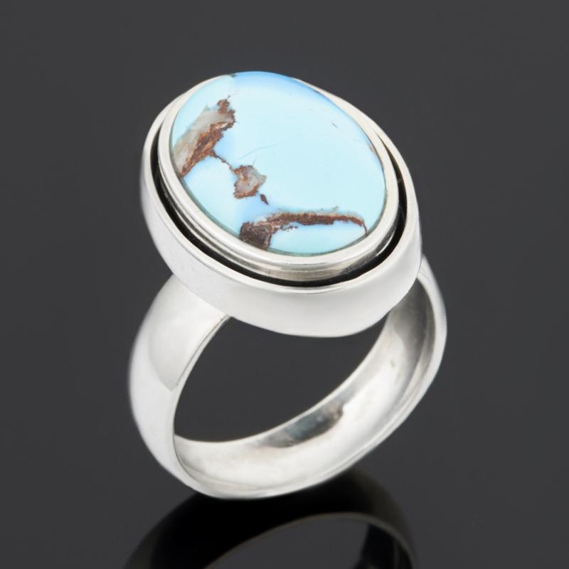 Кольцо бирюза (серебро 925 пр.) размер 17,5