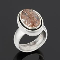 Кольцо рутиловый кварц Бразилия (серебро 925 пр.) размер 18