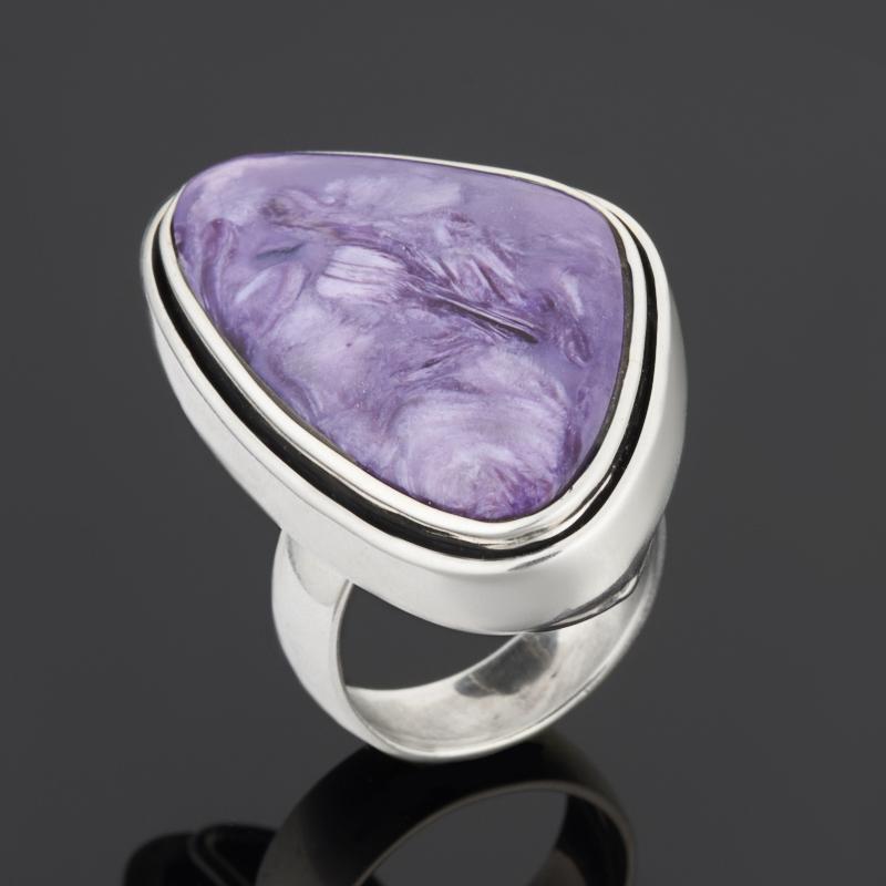 Кольцо чароит (дублет) (серебро 925 пр.) размер 18