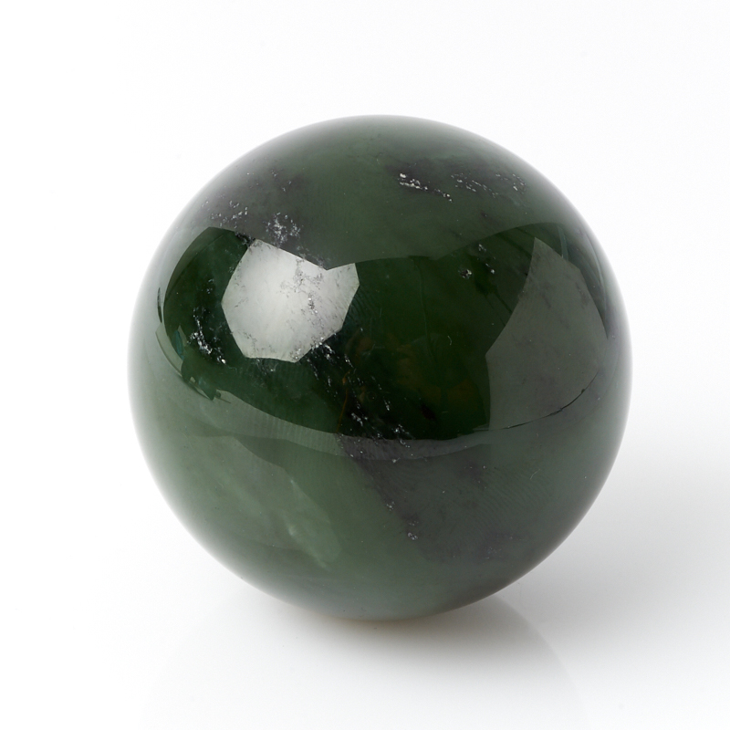 Шар нефрит зеленый 4,5 см браслет классика 8 нефрит револю