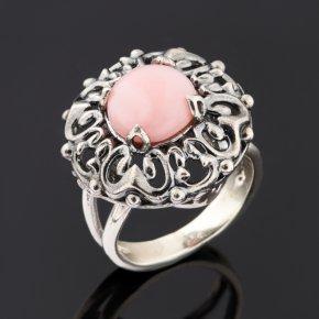 Кольцо опал розовый Перу (серебро 925 пр.) размер 17,5