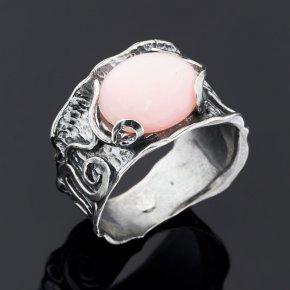 Кольцо опал розовый Перу (серебро 925 пр.) размер 18,5