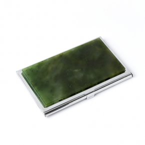 Визитница нефрит зеленый Россия 5,5х9 см