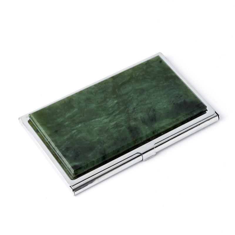 Визитница нефрит зеленый 5,5х9 см