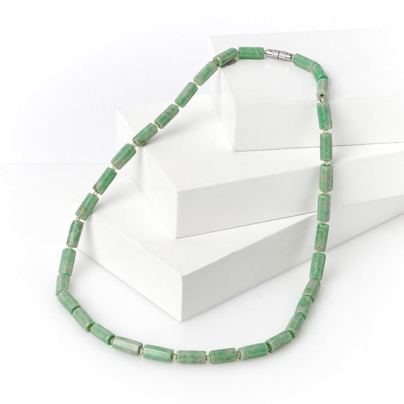Бусы жадеит огранка 48 см (биж. сплав) камни для бани жадеит